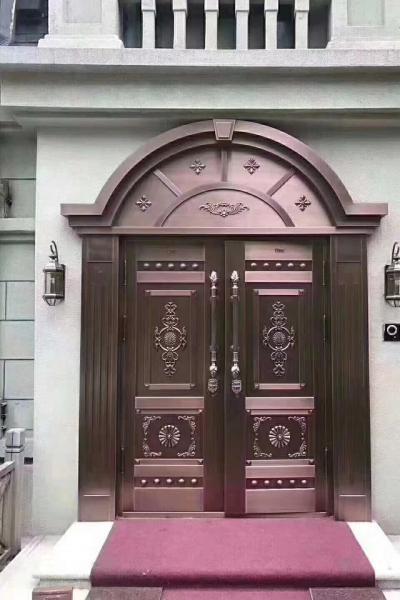 高端对开铜门