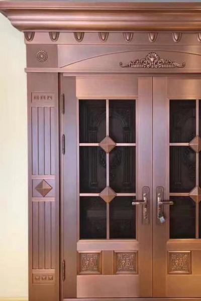双层复合铜门